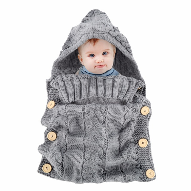 80b6e2d7807c Puseky 0 12M New Kids Toddler Baby Wool Knit Blanket Swaddle Baby ...