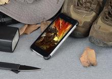 Wholesae Jeasung D6 Robuste Smartphone 4 + 64 GB IP68 Étanche Antichoc Fringerprint Lecteur Double Sim 5 pouce NFC Android 7.0