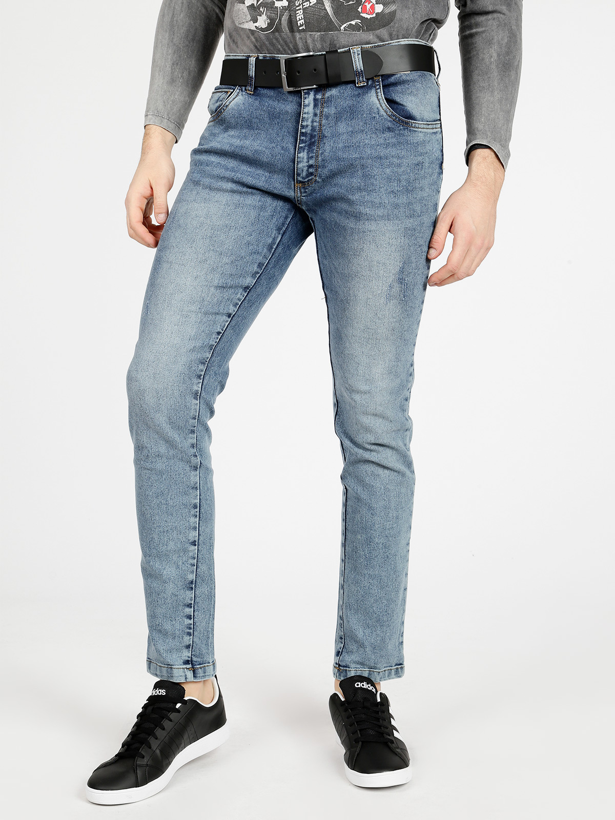 Jeans 5 Pockets Washed-out-regular Fit