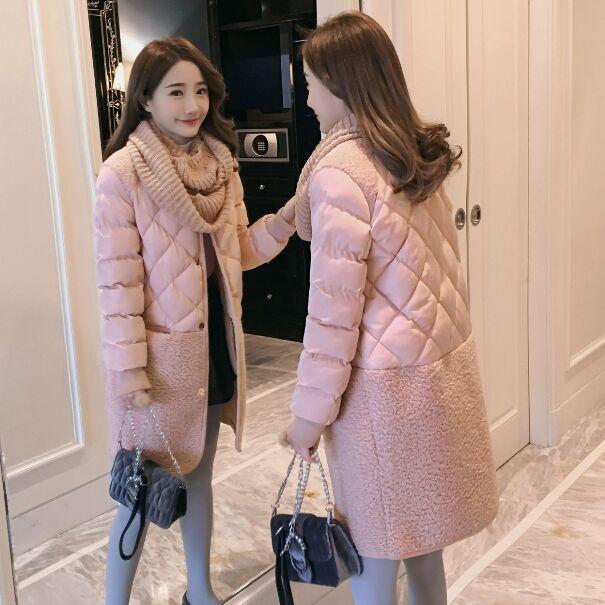 2018 Promotion Plein Large à taille Manteau D'hiver Femmes Vente Chaude Longue Parka Mode Étudiants Femelle Vêtements M-xl épais Vestes