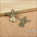 35 pcs Antique bronze Lovely Angel Pendant  Zinc Alloy fit Bracelet Necklace DIY Metal Jewelry Accessories