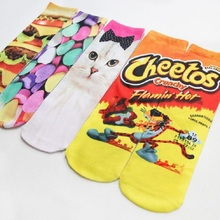 2016 new 3D Printed Stocking Stockings Printing Socks Hip Hop Soft Cotton Sock Unisex SOX socks funny High Socks