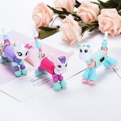 Мультфильм браслет DIY Шарм платье кварцевые часы для девочек мода кошка собака цифровой Роскошные красочные Creaive часы подарок для детей
