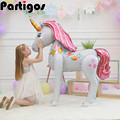 1pc 150*85cm large size 3D unicorn balloons Magical Unicorn Airwalker Foil Mylar Balloon Baby Shower Birthday Party Decors