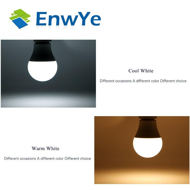 Image 5 - EnwYe светодиодный E14 светодиодный свет E27 светодиодный лампы AC 220V 230V 240V 60 Вт 45 Вт, 35 Вт, 25 Вт, 20 Вт, хит продаж 18 Вт 15 Вт 12 Вт 9 Вт 6 Вт 3 Вт Светодиодный точечный светильник Настольная лампа-in Светодиодные лампы и трубки from Лампы и освещение