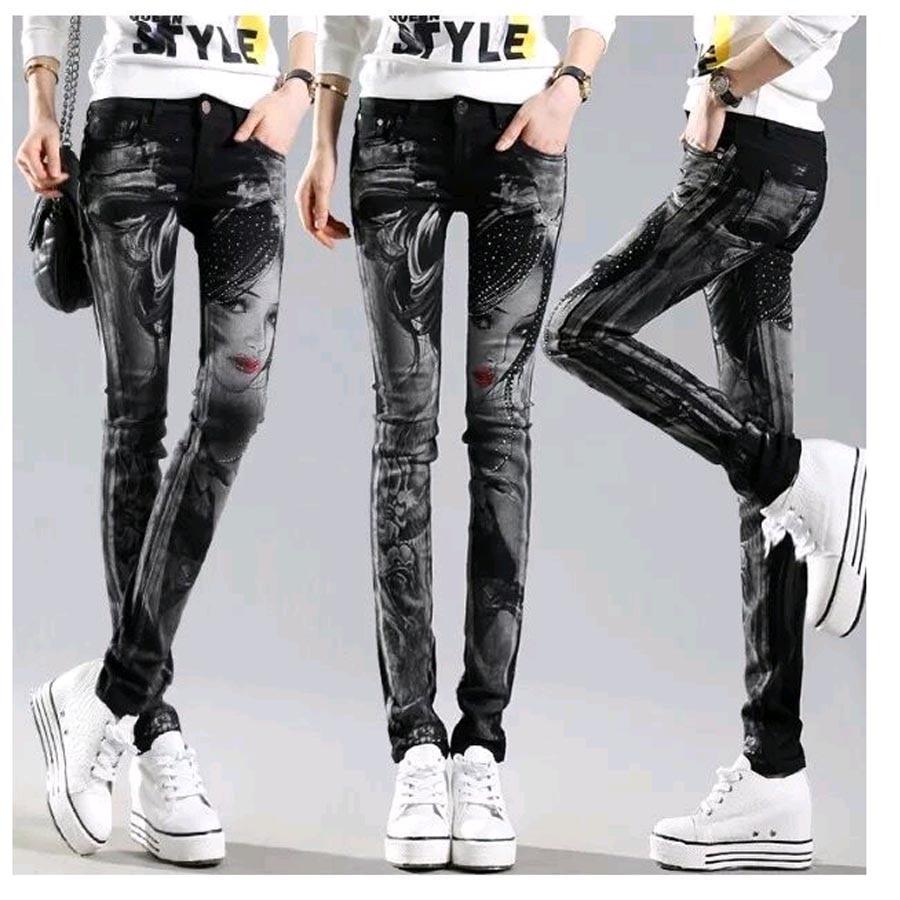 Responsible Spring Women Pants Hot Drilling High Waist Loose Wide Leg Pants Black Casual Long Trousers Women's Clothing Pants & Capris