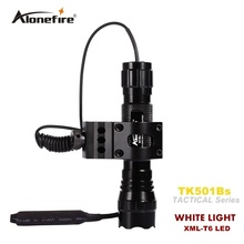 501B Tactical Flashlight 2000 lumens 501B T6 Hunting Rifle Torch Shotgun lighting Shot Gun Mount+Tactical mount+Remote switch