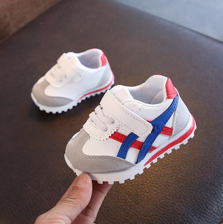 Fashion Kids Boy Girl Sports Anti-Slip Soft Shoes Sneakers Shoes Toddler Shoes