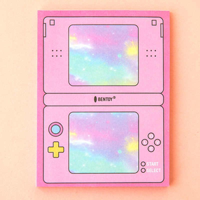 Nette Computer Spiel Memo Pad Selbst-adhesive Planer Aufkleber Kawaii Papier Sticky Notes Notepad Schule Büro Schreibwaren
