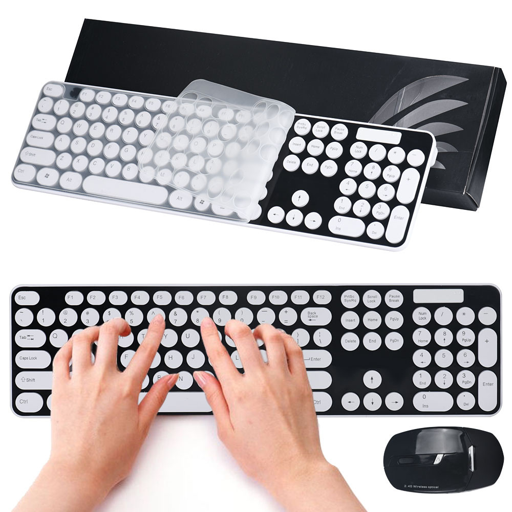New Wireless Keyboard 2.4G Multimedia Wireless Optical Mouse and Keyboard Set for Desktop Gaming USB Wired for Tablet Laptop PC аккумуляторный кусторез ryobi rht1855r25f 5133003832
