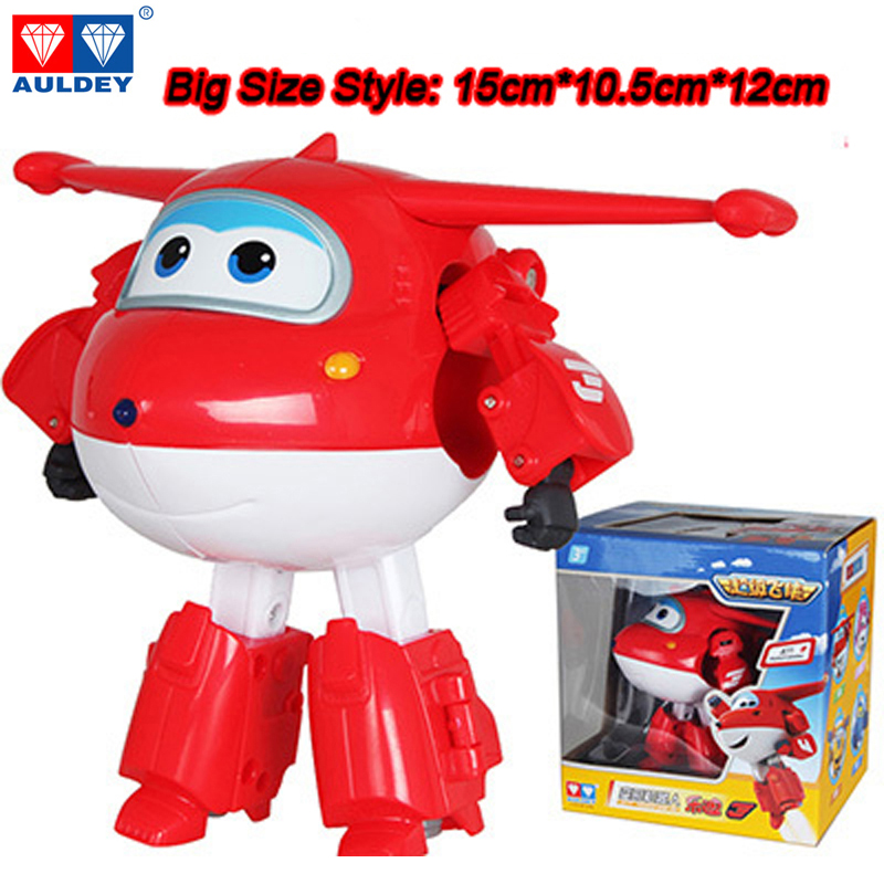 Big 15cm ABS Super Wings Deformation Airplane Robot Action Figures Super Wing Transformation font b toys