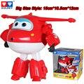 Grande!!! 15 cm ABS Avión Alas Súper Deformación Robot Figuras de Acción Súper Ala Transformación juguetes para los niños Brinquedos regalo