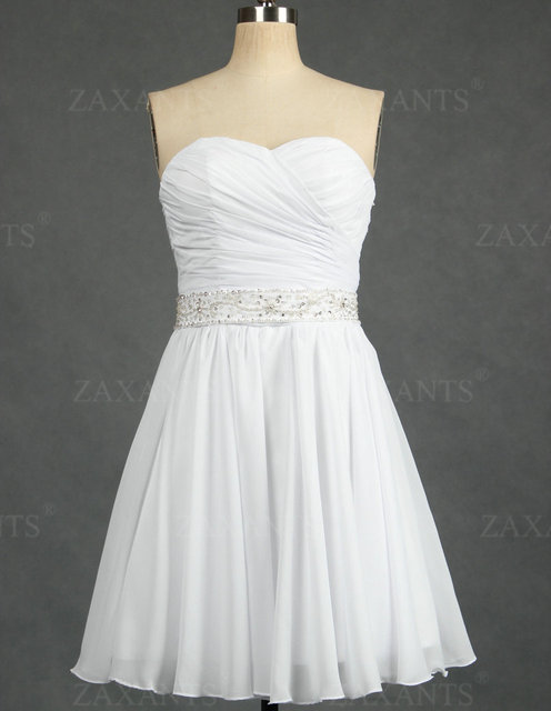 Hot Sale Beach Chiffon Mini Short Wedding Dresses Discount 50% Save Up TWD037