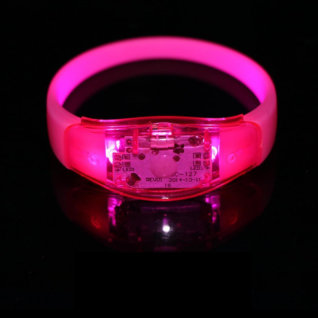 Reusable LED Flashing Light Up Bracelet Wristband Party Concert