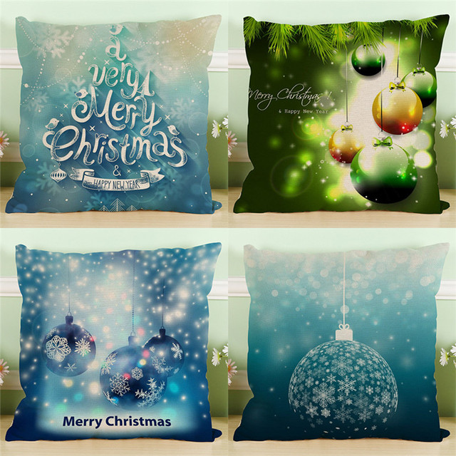 Christmas Snow Ice Blue Gold Wedding Gift Cushion Cover Wholesale Classy Ice Blue Decorative Pillows