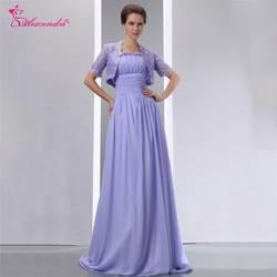 Александра шифоновых линия мать невесты платье с кружевом куртка двойной длинное вечернее платье вечерние платье