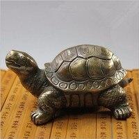 Tnukk Китай древний бронзовая скульптура украшения Украшение долголетия черепаха.