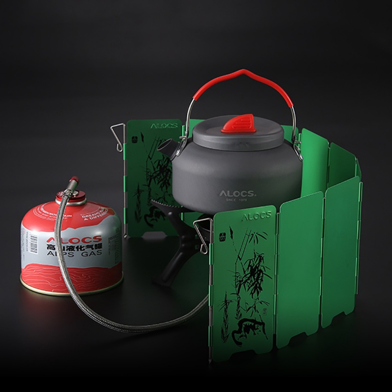 Outdoor Camping Gas-burner Wind Shield Camping Equipment Strong Durable Foldable Windshield Cooking Gas Stove Wind Screen