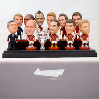 10PCS Display Box Soccer FC BM Player Star Figurine 2 5 Action Doll Classic Version The