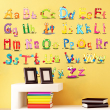 Home Decor Decoration ABC English alphabet Minnie Wall Stickers Vinyl Mural Alphabet Decals Kids Children Lovely Nursery