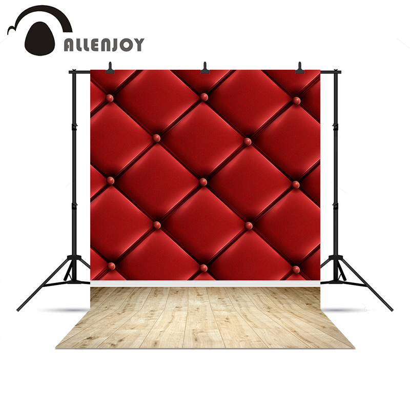 Allenjoy background for photo shoots Red headboard bed luxury noble real backgrounds studio Photophone backdrops