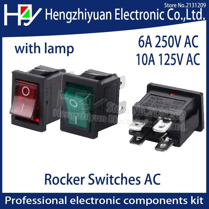 5PCS Boat Rocker Switch 16A 250VAC 20A 125V ON//OFF SPST 4Pin Blue Light 31x25mm