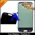 Frete Grátis + Rastreamento No. 100% Orignal Para Samsung Galaxy i9506 S4 i9500 i9505 i337 LCD Digitador Assembléia-Escuro azul/Branco