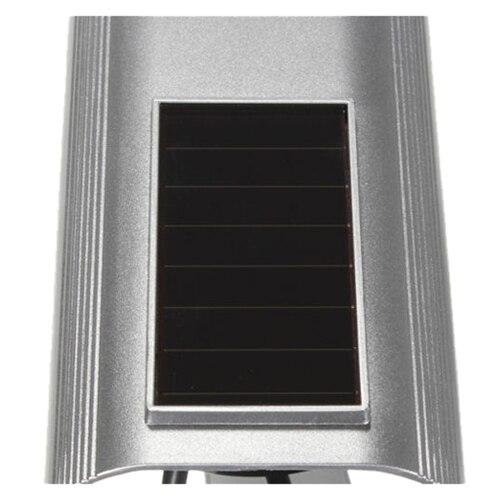 все цены на MOOL 2X Quality Solar Powered Dummy Surveillance Red LED Light Security CCTV Camera Silver онлайн