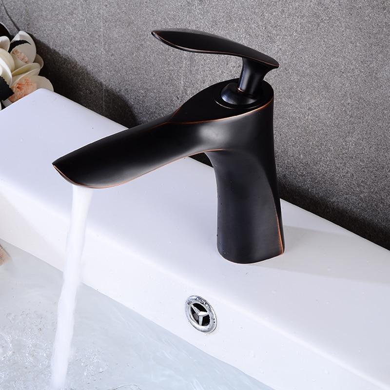 ORB Basin Faucets Bathroom Faucet Single handle Basin Mixer Tap Bath Faucet Brass Sink Water Crane basin faucets brass gold deck bathroom sink faucet single handle euro luxury horse head diamond bath vanity mixer water tap 818k
