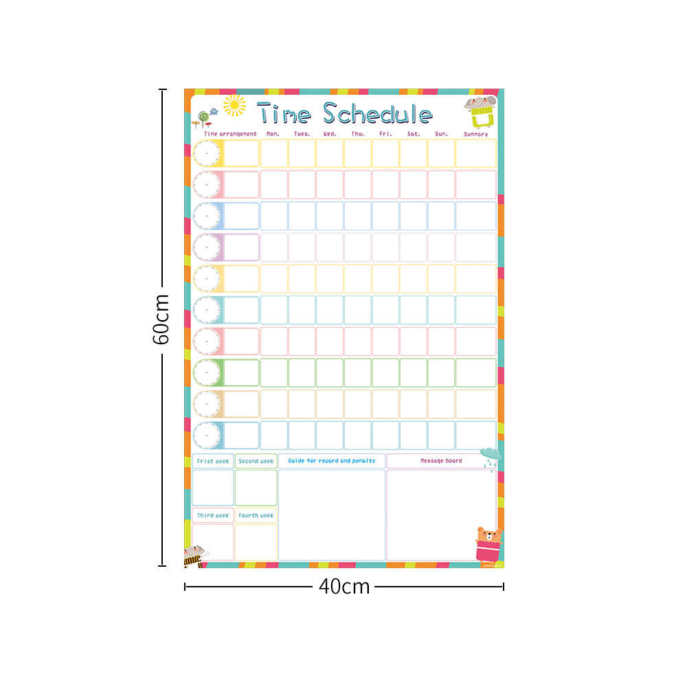 Calendario Semanal.Calendario Semanal De Borrado En Seco Magnetico Calendario Diario Planificador Tiempo De Dibujo Escritura A Hacer Lista De Premios Tabla De Pared