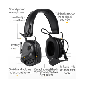 Image 5 - Tactical Headset Hunting Airsoft Headphone with Noise Reduction Canceling Camouflage Military Combat Shooting Headset