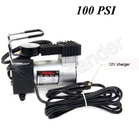 100 PSI Mini Car Air Compressor Portable Equipped Accurate Pressure Gauge Tire Inflator Pump for Bicycle Car Motor