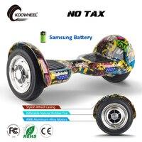 10 بوصة hoverboard koowheel gyroscooter hoverboard 2 عجلة الذاتي موازنة سكوتر سامسونج البطارية الكهربائية الكهربائية skatebord