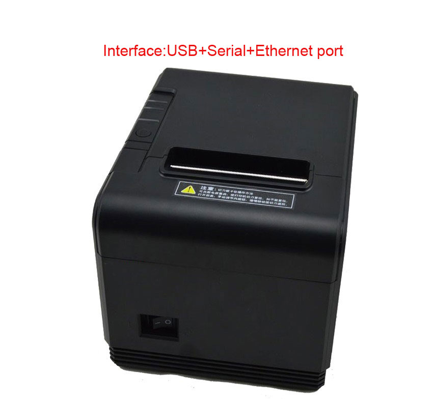 High quality 300mm/s 80mm auto cutter Pos printer thermal receipt printer with USB+Ethernet+Serial for Hotel/Kitchen/Restaurant high quality 80mm auto cutter usb bluetooth thermal receipt printer pos printer for hotel kitchen restaurant retail
