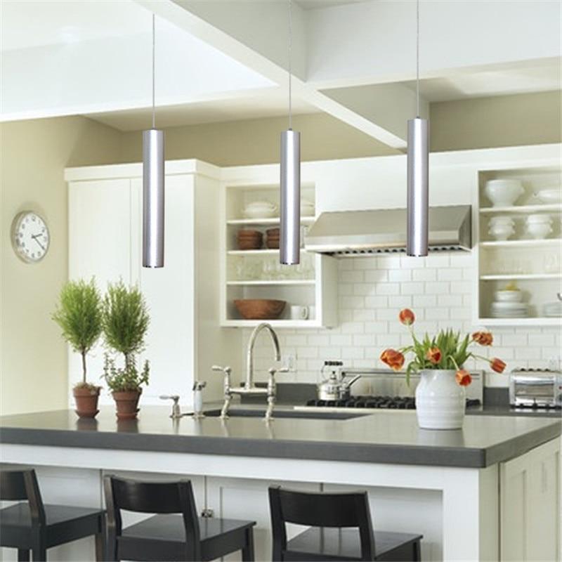 28cm/48cm Free Shipping Modern Nordic Black/Silver Aluminum Long Column Pedant Light for Bar/Living Room Home Lamp PLL-377