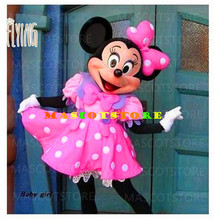 Pink Minnie Mouse Cartoon Mascot Costume Fancy Dress Adult Size(China) & Buy adult minnie mouse costume and get free shipping on AliExpress.com