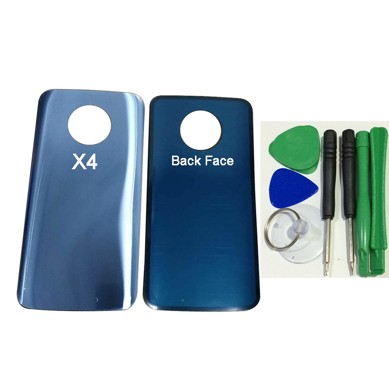 Back Battery Door Rear Glass Housing Cover with Sticker Adhesive For Motorola Moto <font><b>X4</b></font> <font><b>XT1900</b></font> with Screwdriver tool kit image