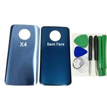 Motorola moto x4 xt1900 용 스티커 접착제로 배터리 도어 후면 유리 하우징 커버 (스크루 드라이버 툴 키트 포함)