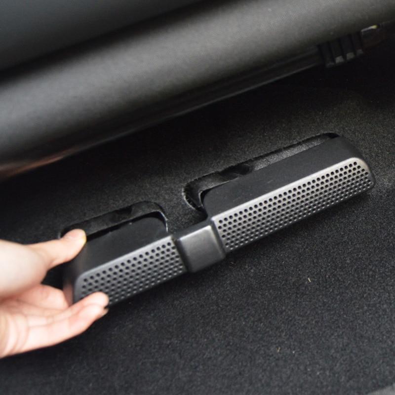 Para vw tiguan touran mk2 2017 2018 lhd 2 pçs carro sob assento ar condicionado saída de ventilação poeira capa protetora quadro