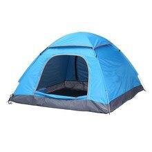 1pcs 3 4 Person Automatic Quick Opening Tent Outdoor Camping Tent 170T fulmargin cloth pole fiberglass