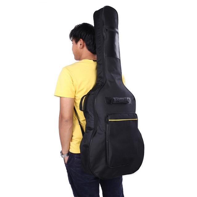 High quality black violin guitar bag case for 40/41 inch guitar 600 d fabric waterproof guitar bag Shoulder Straps Pockets