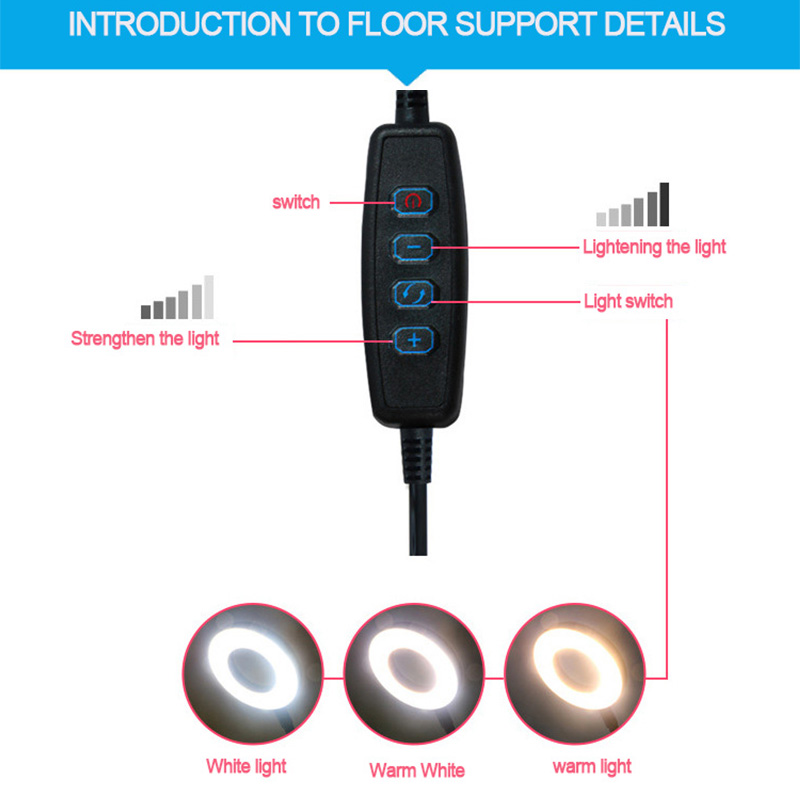 Ring Light and Floor Stand Mic Holder 8