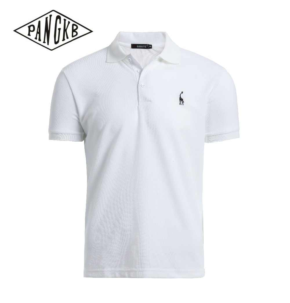 34ecd595c23  PANGKB  Brand New summer white men polo shirt men s short sleeve cotton  shirt jerseys