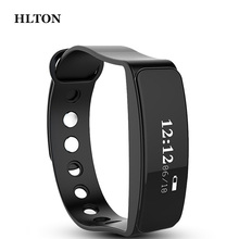 HLTON Smart Wristband Calories Anti-lost Band Pedometer Sports Fitness Tracker Smart Bracelets SMS Call Remind For iOS Android
