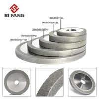 3/4/5/6 pulgadas rueda de molienda de diamante plana electrochapada para accesorios de afilar disco de fresado de Metal 100/150/180 #