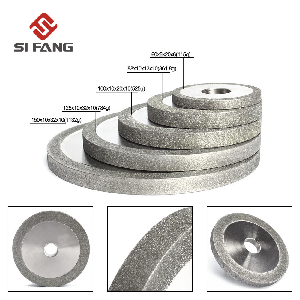 3/4/5/6inch Electroplated Flat Diamond Grinding Wheel For Metal Milling Diamond Disc Sharpening Accessories 100/150/180#