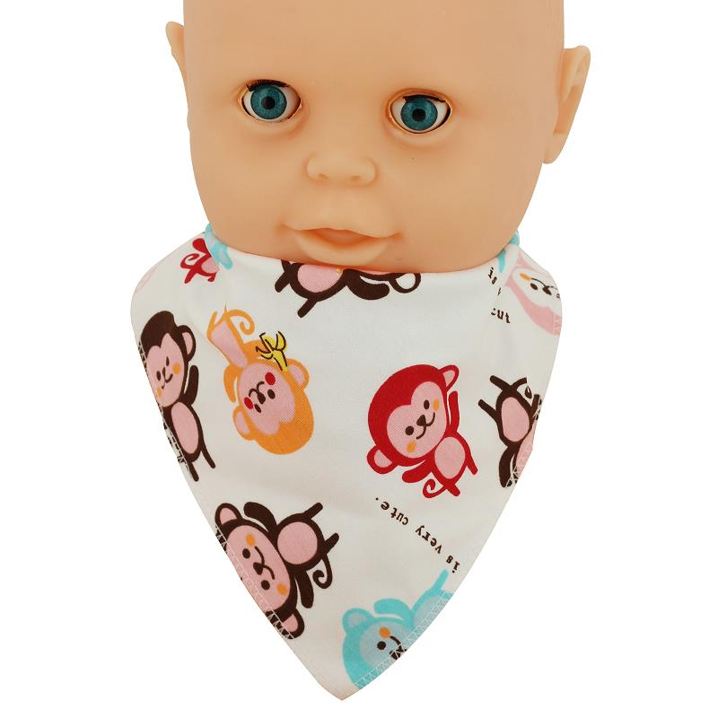 1Pcs Baby Bibs Feeding Stuff Boy Cute Cotton Toddler Accessories For Newborns Clean Safe Saliva Towel