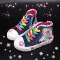 Детские ботильоны для девочек  зимние ботинки с принтом «Холодное сердце» для девочек  осенние ботинки «Мартенс»  детская зимняя обувь  2 #...