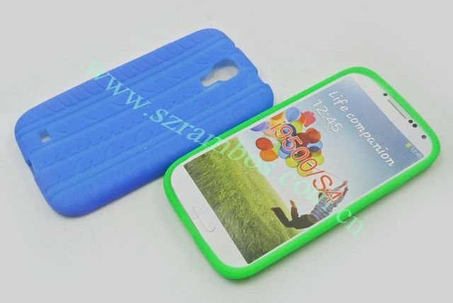 Tyre Treads Skin Silicon Rubber Gel Soft Mobile Phone Case Cover for Samsung Galaxy S4 SIV i9500