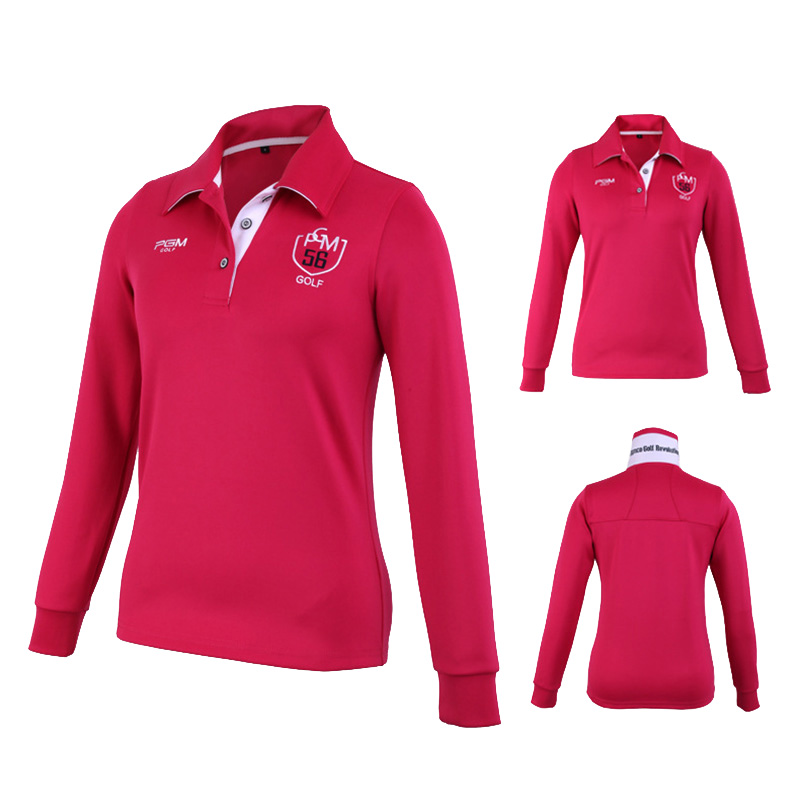 Outdoor Sport PGM Women Polo T-shirt Quick Dry Glof Shirt Breathable Cotton Golf Long-Sleeve Shirts Table Tennis Shirt  (8)
